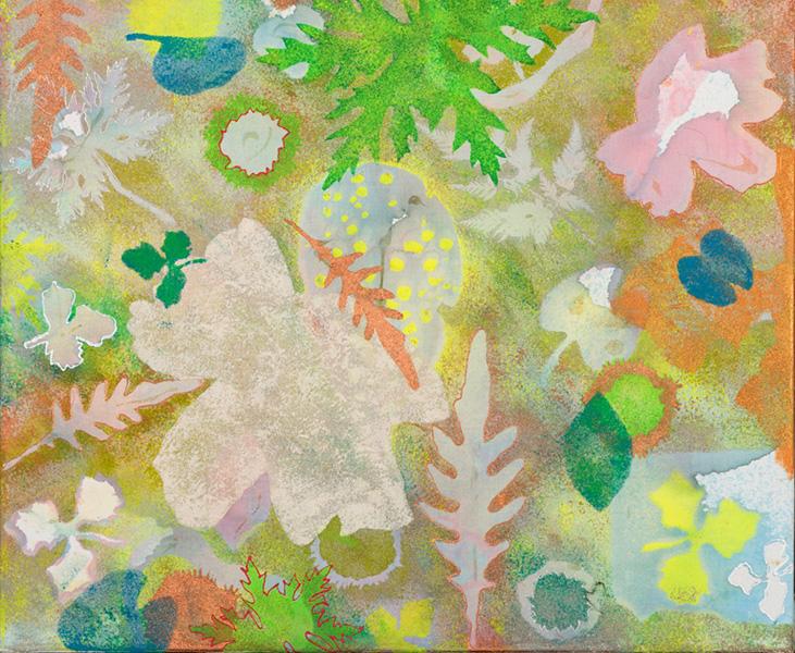 Nature II, 50 x 60 cm, gemengde techniek op doek, € 400,-