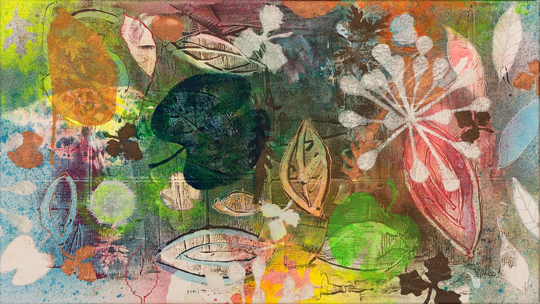 Nature IV, 45 x 80 cm, gemengde techniek op doek, € 550,-
