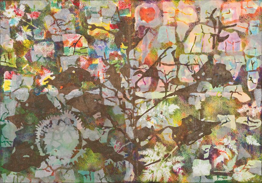 Nature V, 70 x 100 cm gemengde techniek op doek, € 750,-