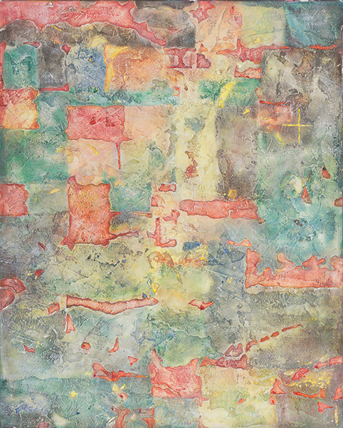 La Terra, 70 x 90 cm, stuc in relief, acryl op paneel, € 850,-